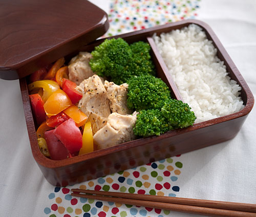 Bento no. 76: Chicken and pepper rice cooker bento | Just ...