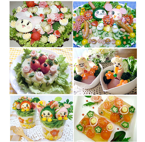 Bored with ham? Get ideas from a decorative ham salad