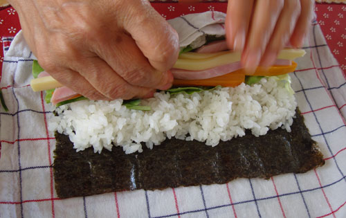 how to make veggie sushi without mat